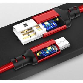 HOCO - Hoco Premium Micro USB naar USB 2.0 2A data kabel - USB naar Micro USB kabels - H002-RE-1M www.NedRo.nl
