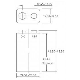 PHILIPS - Philips Industrial 9V 6LR61 Alkaline - Size C D 4.5V XL - BS042-30x www.NedRo.us