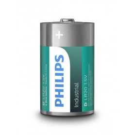 PHILIPS, Philips Industrial D/LR20 Alkaline, Size C D 4.5V XL, BS043-CB
