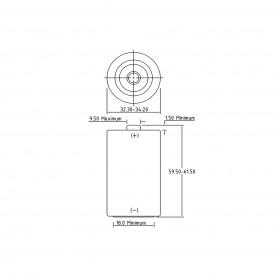 PHILIPS - Philips Industrial D/LR20 Alkaline - Size C D 4.5V XL - BS043-20x www.NedRo.us