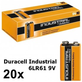 Duracell - Duracell Industrial 9V 6LR61 alkalinebatterij - C D 4.5V XL formaat - BL061-20x www.NedRo.nl
