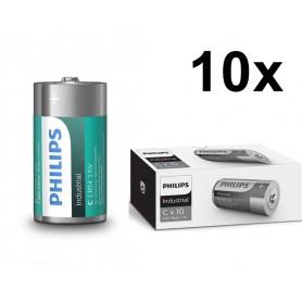 PHILIPS - Philips IndustrialC/LR14 Alkaline - Size C D 4.5V XL - BS044-10x www.NedRo.us