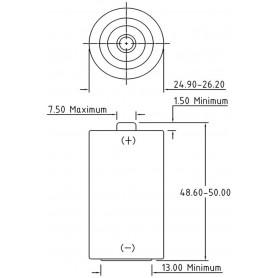 PHILIPS, Philips IndustrialC/LR14 Alkaline - 10 pieces, Size C D 4.5V XL, BS044-CB