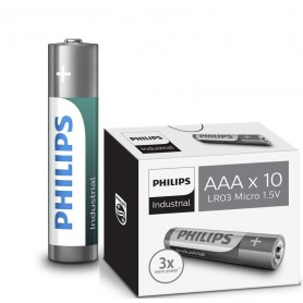 PHILIPS - AAA R3 Philips Industrial Power Alkaline - AAA formaat - BS046-CB www.NedRo.nl