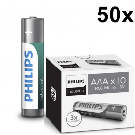 PHILIPS - AAA R3 Philips Industrial Power Alkaline - AAA formaat - BS046-50x www.NedRo.nl