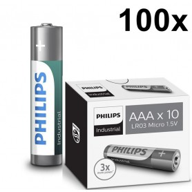 PHILIPS - AAA R3 Philips Industrial Power Alkaline - AAA formaat - BS046-100x www.NedRo.nl