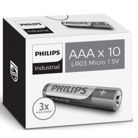 PHILIPS - AAA R3 Philips Industrial Power Alkaline - Format AAA - BS046-100x www.NedRo.ro