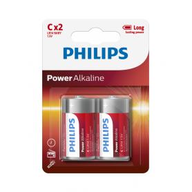 PHILIPS, Philips Power C/LR14 Alkaline, Size C D 4.5V XL, BS047-CB