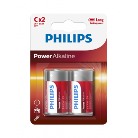 PHILIPS - Philips Power C/LR14 Alkaline - Size C D 4.5V XL - BS047-48x www.NedRo.us