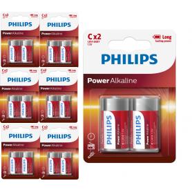 PHILIPS - Philips Power C/LR14 Alkaline - Size C D 4.5V XL - BS047-6x www.NedRo.us