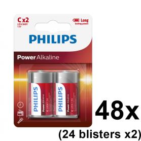 PHILIPS - Philips Power C/LR14 Alkaline - Size C D 4.5V XL - BS047-24x www.NedRo.us