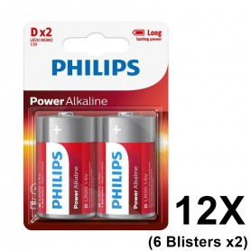PHILIPS - Philips Power D/LR20 Alkaline - Size C D 4.5V XL - BS048-6x www.NedRo.us