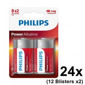 PHILIPS - Philips Power D/LR20 alkalinebatterij - C D 4.5V XL formaat - BS048-12x www.NedRo.nl