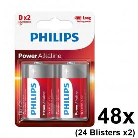 PHILIPS - Philips Power D/LR20 alkalinebatterij - C D 4.5V XL formaat - BS048-24x www.NedRo.nl