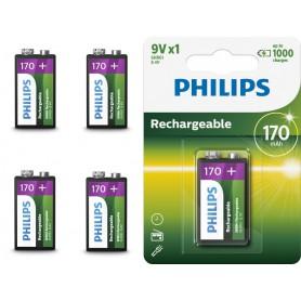 PHILIPS - Philips MultiLife 9V HR22/6HR61 170mAh oplaadbare batterij - Andere formaten - BS049-5x www.NedRo.nl
