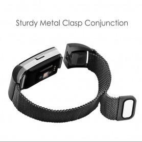 NedRo - Metalen armband voor Fitbit Charge 2 magneet slot - Armbanden - AL188-BL-S www.NedRo.nl