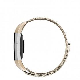 NedRo - Metalen armband voor Fitbit Charge 2 magneet slot - Armbanden - AL188-GL-L www.NedRo.nl