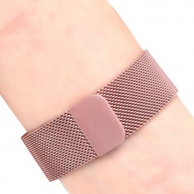 NedRo - Metalen armband voor Fitbit Charge 2 magneet slot - Armbanden - AL188-RG-L www.NedRo.nl