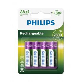 Philips MultiLife 1.2V AA/HR6 2600mah NiMh oplaadbare batterij