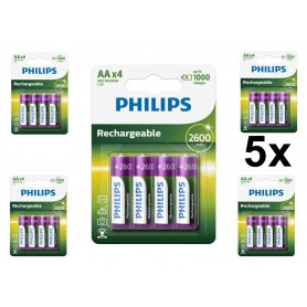 PHILIPS - Philips MultiLife 1.2V AA/HR6 2600mah NiMh rechargeable battery - Size AA - BS050-CB