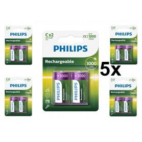 PHILIPS - Philips MultiLife 1.2V C/HR14 3000mah NiMh baterie reîncărcabilă - Format XL C D - BS052-CB www.NedRo.ro