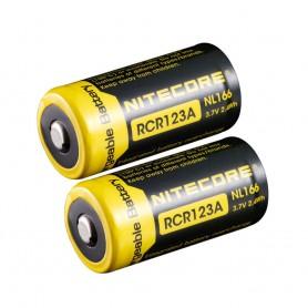 NITECORE - Nitecore RCR123A Li-ion NL166 650mAh 3.7V - Andere formaten - BS064-2x www.NedRo.nl