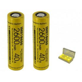 NITECORE - Dou-Pack Nitecore IMR18650 Li-ion 2600mAh 3.7V 40A - 18650 formaat - BS067-2x www.NedRo.nl