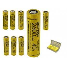 NITECORE - Dou-Pack Nitecore IMR18650 Li-ion 2600mAh 3.7V 40A - 18650 formaat - BS067-8x www.NedRo.nl