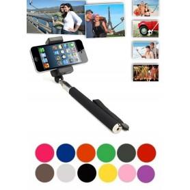 NedRo - Selfie Stick + Remote-Shutter for Smartphones Black - Other telephone holders - 49472 www.NedRo.us