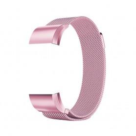 NedRo - Metalen armband voor Fitbit Charge 2 magneet slot - Armbanden - AL188-PI-S www.NedRo.nl
