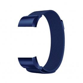 NedRo - Metalen armband voor Fitbit Charge 2 magneet slot - Armbanden - AL188-BU-S www.NedRo.nl