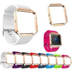 OTB - TPU Siliconen armband voor Fitbit Blaze inclusief metalen behuizing - Armbanden - AL206 www.NedRo.nl