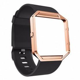 NedRo - TPU Siliconen armband voor Fitbit Blaze inclusief metalen behuizing - Armbanden - AL206-BL-L www.NedRo.nl