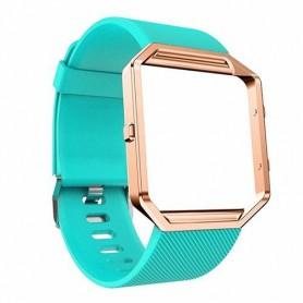 NedRo - TPU Siliconen armband voor Fitbit Blaze inclusief metalen behuizing - Armbanden - AL206-CB www.NedRo.nl