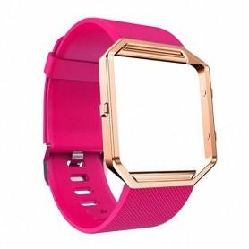NedRo - TPU Silicone bracelet for Fitbit Blaze including metal housing - Bracelets - AL206-PI-L www.NedRo.us