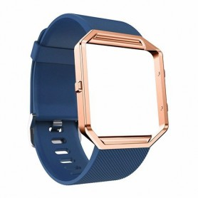 NedRo - TPU Silicone bracelet for Fitbit Blaze including metal housing - Bracelets - AL206-CB