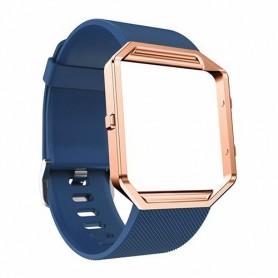 NedRo - TPU Siliconen armband voor Fitbit Blaze inclusief metalen behuizing - Armbanden - AL206-DB-L www.NedRo.nl