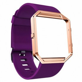 NedRo - TPU Siliconen armband voor Fitbit Blaze inclusief metalen behuizing - Armbanden - AL206-PU-L www.NedRo.nl