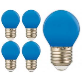Calex - Calex LED kogellamp 240V 1W 12lm E27 blauw - E27 LED - CA0090-5x www.NedRo.nl