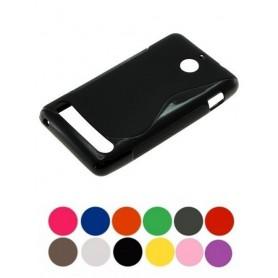 OTB, TPU phone case voor Sony Xperia E1, Sony telefoonhoesjes, ON621-CB, EtronixCenter.com