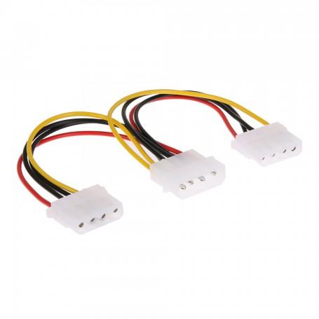 NedRo - Molex Power Splitter 2-weg verdeler - Molex en Sata kabels - AL207 www.NedRo.nl