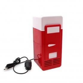 NedRo - Mini frigider rosu si alb pentru birou cu alimentare USB - Gadget-uri computer - YPU801 www.NedRo.ro