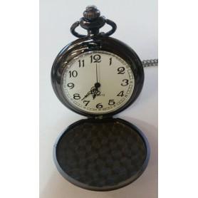NedRo - Fantastic Vintage Black Mirror Polished Quartz Pocket Watch AL066 - Quartz - AL066 www.NedRo.us