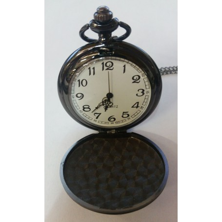 Unbranded - Fantastic Vintage Black Mirror Polished Quartz Pocket Watch AL066 - Watch actions - AL066 www.NedRo.us