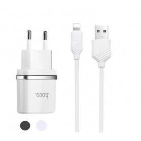 Hoco Dua Premium USB charger with Lightning cable