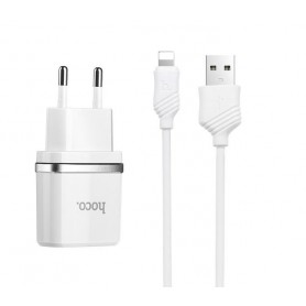 HOCO - Hoco Dua Premium USB charger with Lightning cable - Ac charger - H012-CB