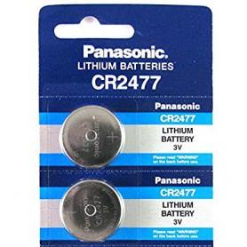 Panasonic - Panasonic Professional CR2477 P120 3V 1000mAh Lithium knoopcel - Knoopcellen - NK257-2x www.NedRo.nl