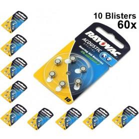 Rayovac - Rayovac Gehoorapparaat batterijen HA10 ON1604 - Knoopcellen - BS079-10x www.NedRo.nl