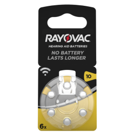 Rayovac, Rayovac Acoustic Hearing Aid Batteries 10 HA10 PR70 ZL4 105mAh 1.4V, Button cells, BS079-CB, EtronixCenter.com