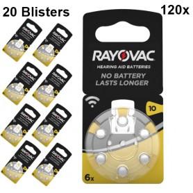 Rayovac - Rayovac Acoustic Gehoorapparaat batterijen 10 HA10 PR70 ZL4 105mAh 1.4V - Knoopcellen - BS079-20x www.NedRo.nl